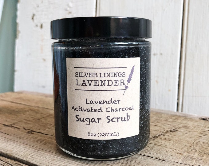 Lavender Sugar Scrub with Activated Charcoal