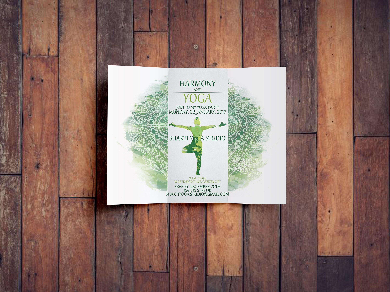 Einladung-Custom Text-Yoga Geburtstagseinladung Partei