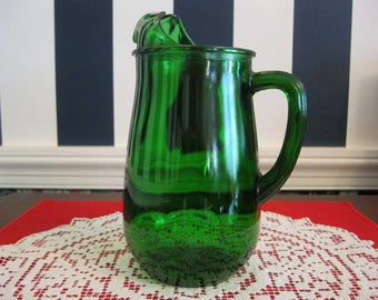 Forest Green 22 oz pitcher, by Anchor Hocking 1950-57