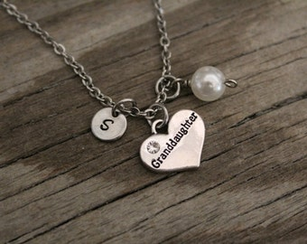 Granddaughter Necklace - Granddaughter Gift - Granddaughter Jewelry - I/B