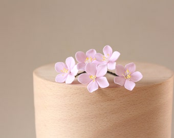 Hair bobby pin polymer clay flowers. Set of 5.   flowers