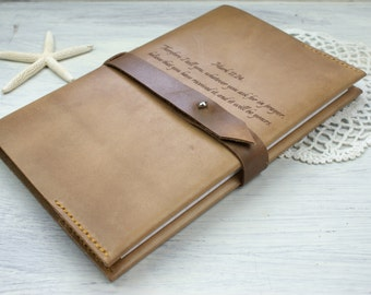 A4  Personalized Leather journal,Large  8,5x11 Refillable Leather notebook , custom  Engraved Notebook, 8,5 x 11 refillable  leather journal