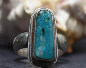 Gem Silica and sterling silver ring Size 7 One of a kind handmade ring