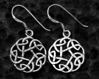 Celtic earring, 925 sterling silver