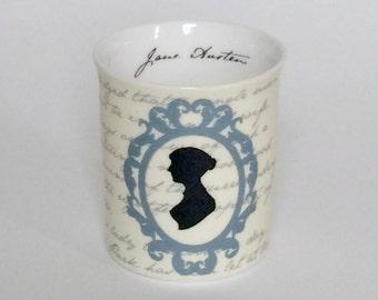 Jane Austen Tea Light Candle Holder - literary Gift, Writer Gift