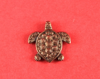 8A/1 MADE IN GREECE Mykonos copper turtle pendant, mykonos turtle charm (X5611AC)Qty1