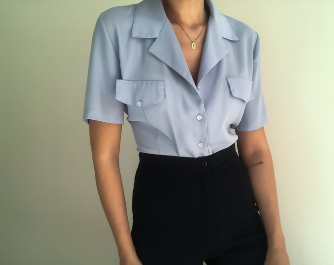 90s Baby Blue Shirt