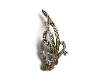 Vintage, marcasite brooch, abstract, unusual, 1950s, vintage brooch, vintage jewellery, gift for her, christmas present, stocking filler