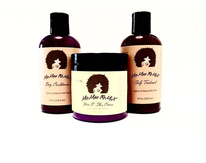 Featured listing image: LOC/LCO METHOD Liquid.Oil.Cream/Liquid.Cream.Oil Bundle Pack for maximizing moisture retention.