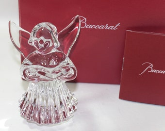 Baccarat Cherub Angel with Hymnal or Songbook, Boxed with pamphlet