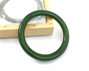 Canadian Nephrite Jade Baby Bangle - 40mm - Jade Bracelet - Green Jade - Natural Jade