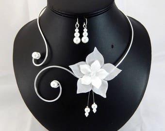 Eline - Set white flower - customizable