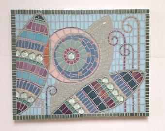 """Pastel Mosaic Art, Abstract mosaic artwork, """"Fairyland"""""""