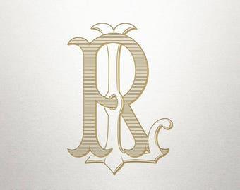 Wedding Monogram Design - LR RL - Wedding Monogram - Interlocking
