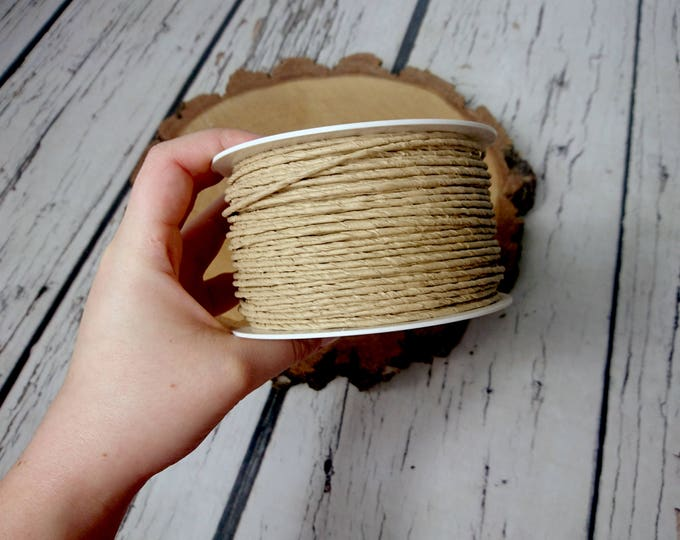 Paper covered rustic wire 100m 109yd natural beige light brown flower crown wreath florist supply Wedding Flowers diy decor bouquet woodland