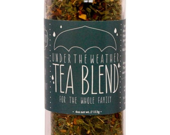 Herbal Tea, Under the Weather Tea Blend, Organic Herbs, Cold & Flu, Immune Support, Cough, Respiratoy Support