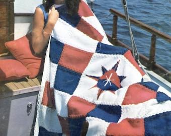 Nautical Sundial Knit Blanket Pattern