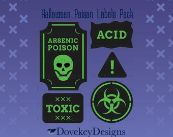 Halloween Poison Labels Pack for Cricut/Silhouette (svg)