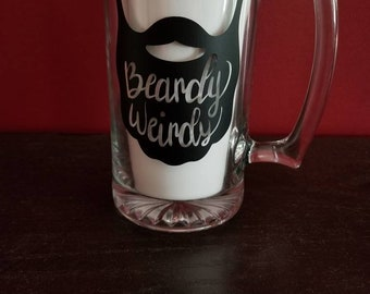 Beardy weirdy large beer mug