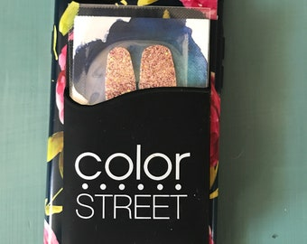 Color Street cell phone wallet, business card holder, stick on wallet