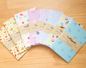 notebook set, notebook, journal, diary, A6 notebook set, journal pack, A6 notebook, notebook collection, journals and notebooks lined