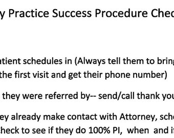 Checklist-PI Procedure Success- 21 Steps for Personal Injury Success!