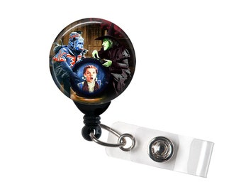 Wicked Witch, Flying Monkey and Crystal Ball, Retractable ID Badge Reel, Wizard of Oz