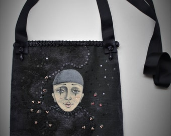 "OOAK art bag ""Silent Cinema"""