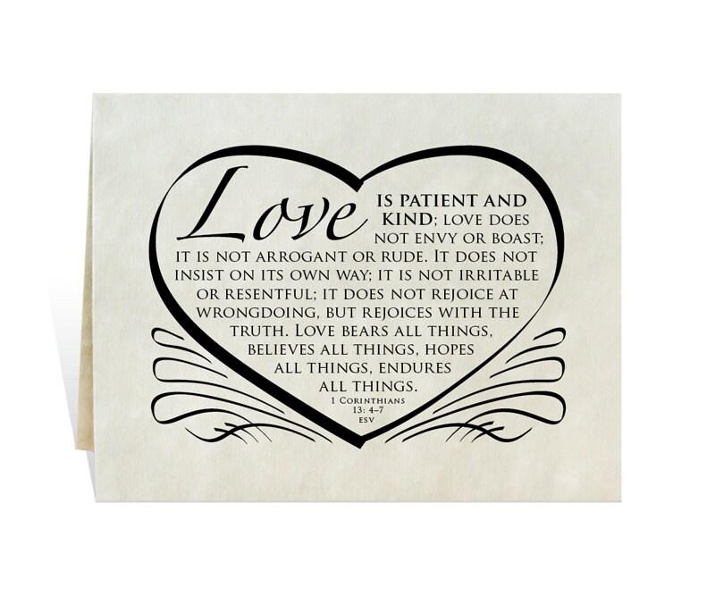 Wedding card program invitation love is patient and kind zoom stopboris Gallery