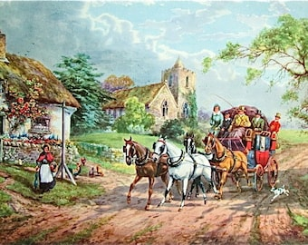 Vintage Stage Coachs Of England