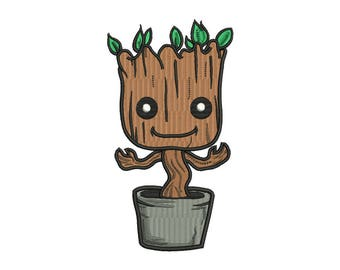Baby Groot Embroidery Design - 3 SIZES