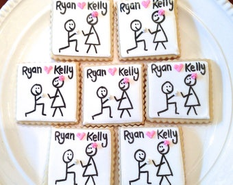 Engagement Party | Engagement Cookies | Engagement Party Ideas | She Said Yes | One Dozen