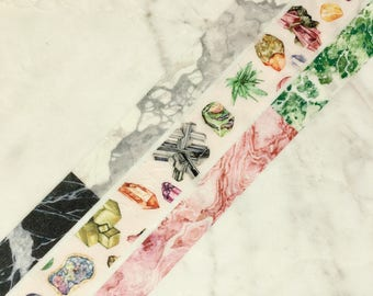 SAMPLE SET Marble & Minerals Washi Tapes