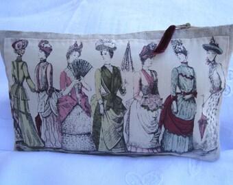 The gift idea for women clutch linen clutch organic women 19th