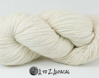 Royal Baby Natural Alpaca Yarn Sock Weight White