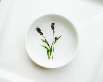 Flower Ceramic Ring Dish, Pressed Flowers Jewelry Dish, Real Flower Ring Dish, Wedding Gift, Jewelry Organizer