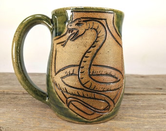 Snake Crest Mug 16 oz - Bookish Christmas - Bookishness and Tea - Literary Gift - Bookish Mugs - Bookworm Gift Ideas - Book Lover Gift