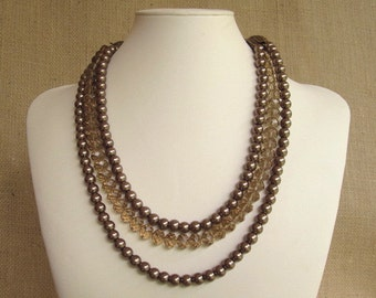 AAA Smokey Faceted Beads for Convertible Necklace