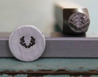 5mm Deer or Elk Antlers Metal Design Stamp - Supply Guy Stamp - SGCH-3