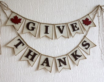 Give Thanks Sign, Give Thanks Banner, Thanksgiving Banner, Thanksgiving Decor, Thanksgiving Decoration, Fall Decor, Fall Banners,