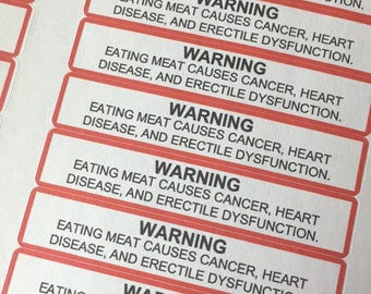 Health warning labels stickers (30 stickers)