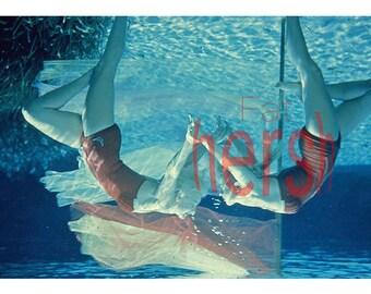 Vintage Original 1960's Women Synchronized Swimming 35MM Amateur Slide Transparency Photo