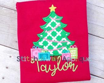 Christmas Tree 7 Machine Applique Design