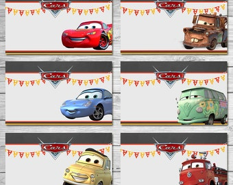 Disney Cars Food Tents Chalkboard - Cars Food Labels - Disney Cars Printables - Cars Party Favor - Cars Happy Birthday - Cars Birthday