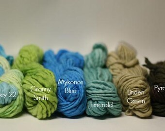 Thick and Thin Merino Yarn Slub Hand Dyed tts(tm) 44 Mini Skein