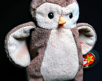 Hoot Owl Beanie Babies Baby Wildlife Rare Collectable