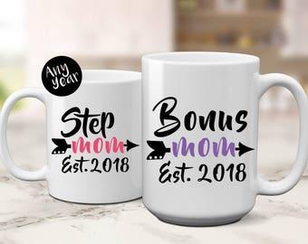 Bonus Mom Est   New Step Mom   New Bonus Mom   Gift for Step Mom   Gift for Bonus Mom   Mothers Day Gift   New Stepmom   Gift for Stepmom   