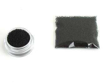 Pearls caviar glass deep black bag of 10 grams