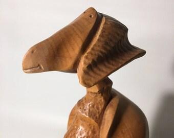 Bird sculpture - beech