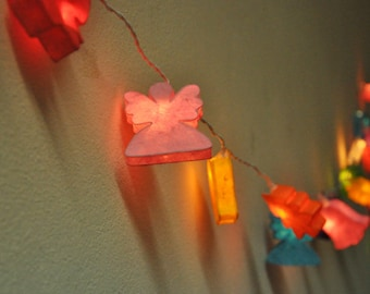 Christmas colorful mulberry paper Lanterns for Party and Decoration (20 bulbs), fairy lights